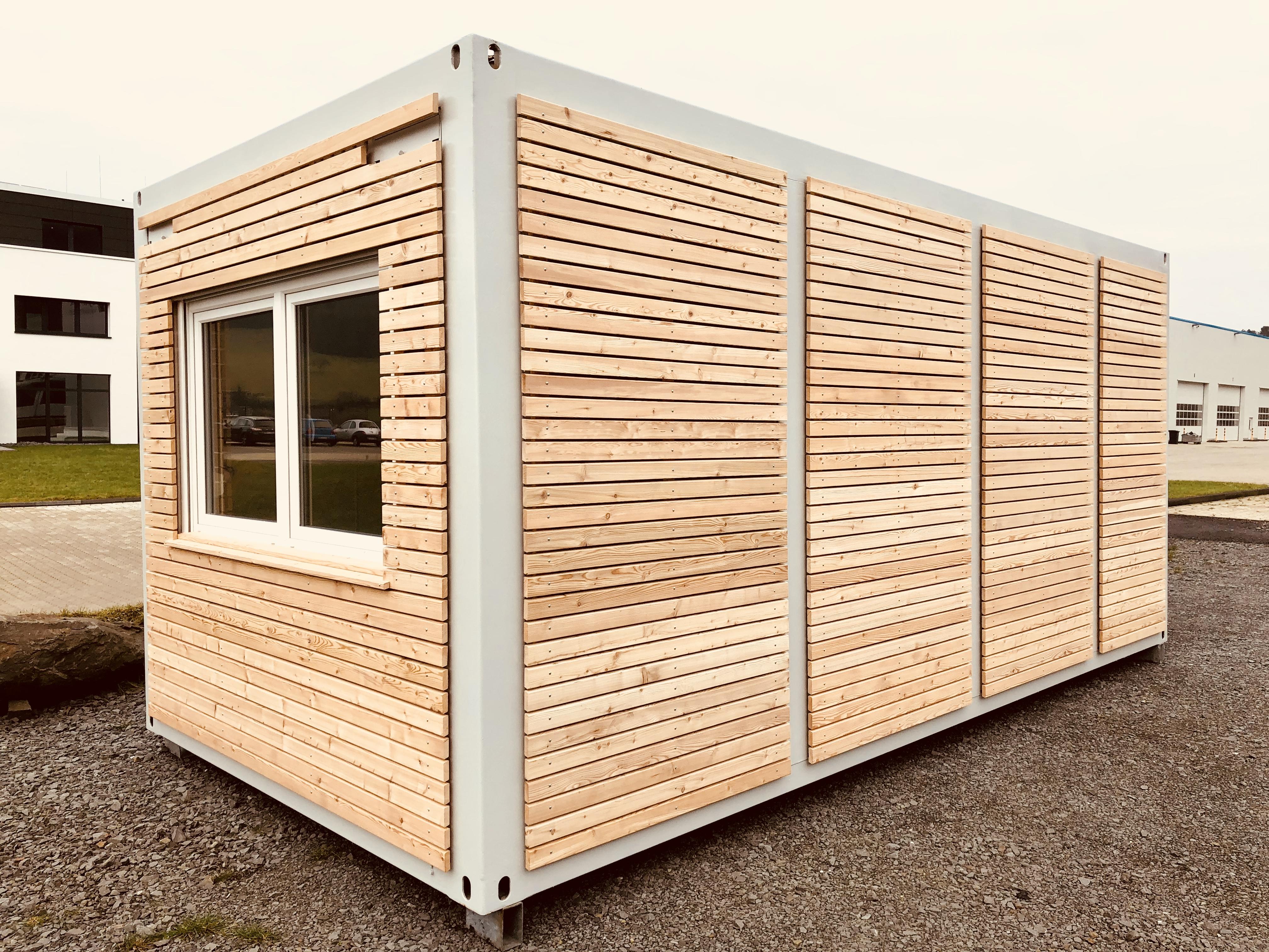 Berühmt Rhombusprofile Container Fassaden – OPTIRENT Mobilraum-Mietservice DM44